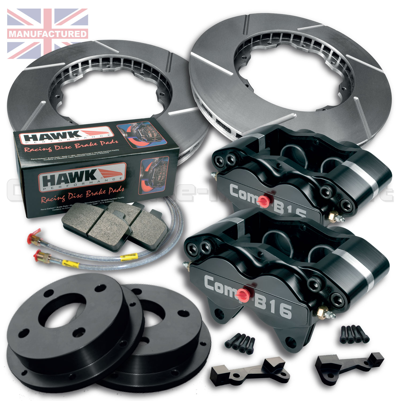 "Front Disc Brake Caliper Support Spring Set: Triumph Dolomite Upright 4 POT 13"" Front Brake Kit"