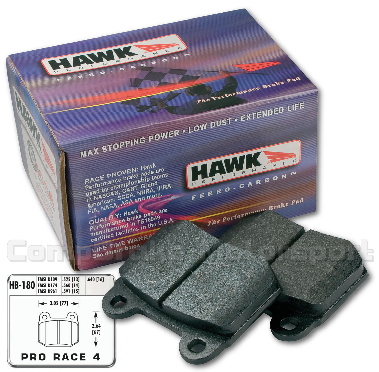 Hawk Brake Pads >> Hawk Mitsubishi Evo Front 4 Hp Plus Brake Pads