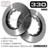 CMB0083-BRAKE-DISCS-[330MM-X-32MM-12-BOLT-50MM-PAD-8PCD]