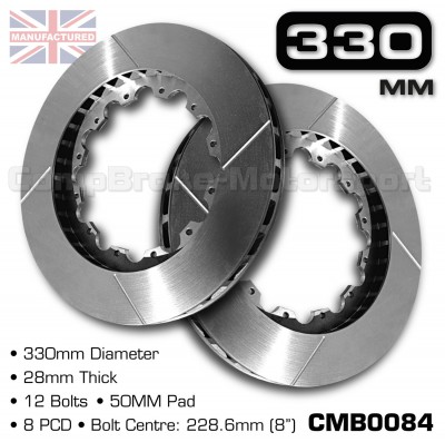 CMB0084-BRAKE-DISCS-[330MM-X-28MM-12-BOLT-50MM-PAD-8PCD]