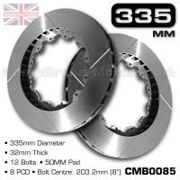 CMB0085-BRAKE-DISCS-[335MM-X-32MM-12-BOLT-50MM-PAD-8PCD]