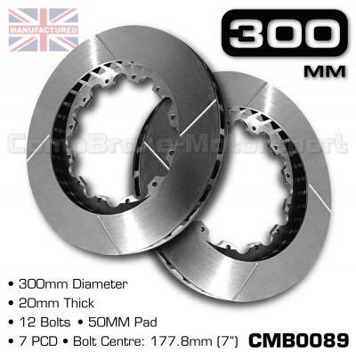 CMB0089-BRAKE-DISCS-[300MM-X-20MM-12-BOLT-50MM-PAD-7PCD]