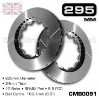 CMB0091-BRAKE-DISCS-[295MM-X-24MM-12-BOLT-50MM-PAD-6.5PCD]