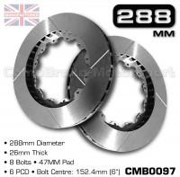 CMB0097-BRAKE-DISCS-[288MM-X-26MM-8-BOLT-47MM-PAD-6PCD]