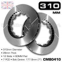 CMB0410-BRAKE-DISCS-[310MM-X-28MM-12-BOLT-60MM-PAD-7PCD]