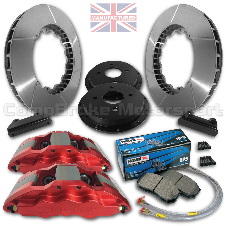 honda civic type r ep3 integra 17 front brake kit 6 pot calipers pro race 6 330mm x 28mm. Black Bedroom Furniture Sets. Home Design Ideas