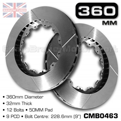 CMB0463-BRAKE-DISCS-[360MM-X-32MM-12-BOLT-50MM-PAD-9PCD]