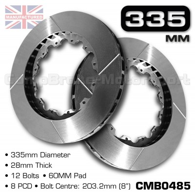CMB0485-BRAKE-DISCS-[335MM-X-28MM-12-BOLT-60MM-PAD-8PCD]