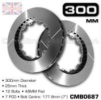 CMB0687-BRAKE-DISCS-[300MM-X-25MM-12-BOLT-48MM-PAD-7PCD]