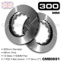 CMB0691-BRAKE-DISCS-[300MM-X-28MM-12-BOLT-50MM-PAD-7PCD]