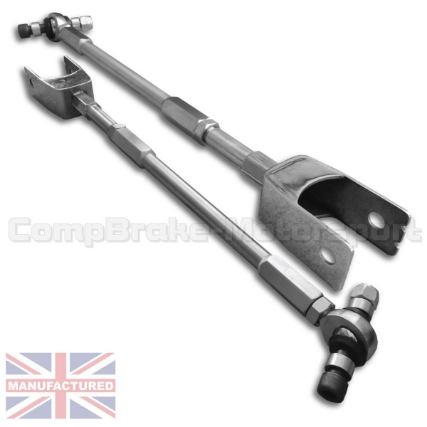 Audi A3/S3 Quattro MK1 S/S Adjustable Camber Control Arms (Tie Arms)  Stainless Steel & Rose Jointed (PAIR)
