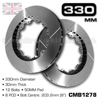 CMB1278-BRAKE-DISCS-[330MM-X-30MM-12-BOLT-50MM-PAD-8PCD]