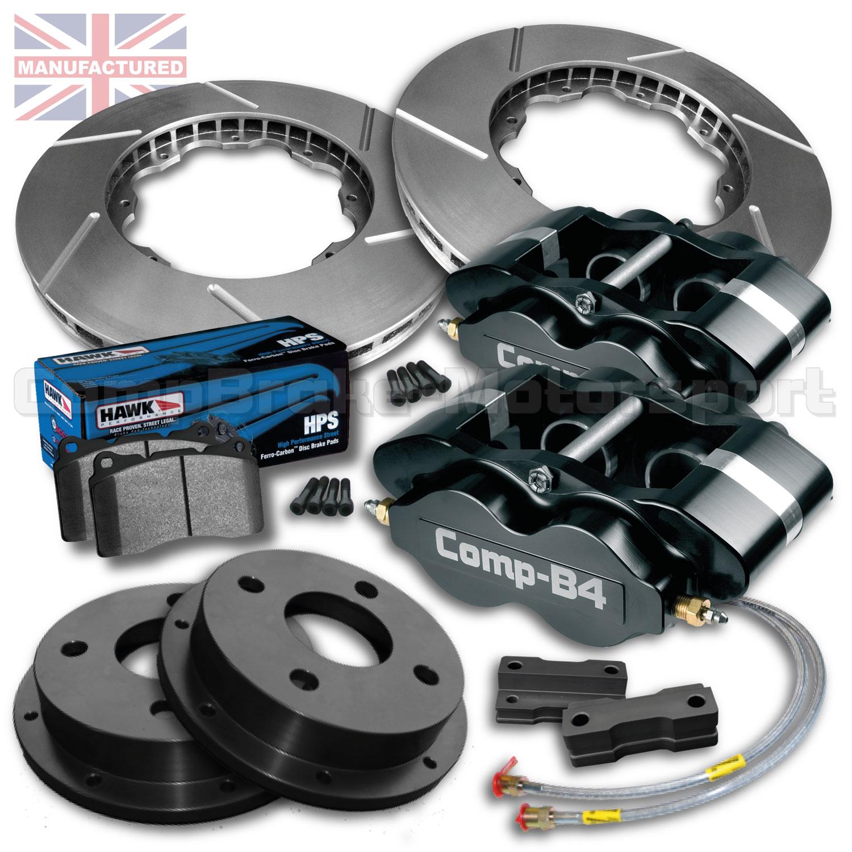 ford fiesta mk3 15 front brake kit 4 pot calipers pro race 2 295mm x 24mm rotors brake. Black Bedroom Furniture Sets. Home Design Ideas
