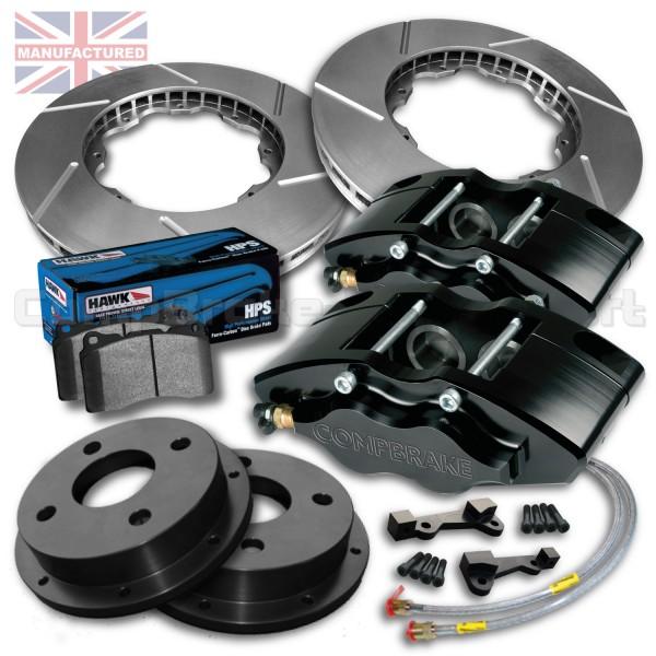 """Vauxhall Nova/Corsa 14"""" Front Brake Kit – 4 Pot Calipers"""