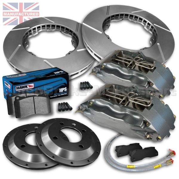 "Hawk Brake Pads >> Alfa Romeo 155/156 3.0 Gtv V6 18"" 19"" Front Brake Kit – 4 Pot Calipers [Pro Race 7] 350MM X 32MM ..."