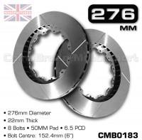 CMB0183-BRAKE-DISCS-[276MM-X-22MM-8-BOLT-50MM-PAD-6.5PCD]
