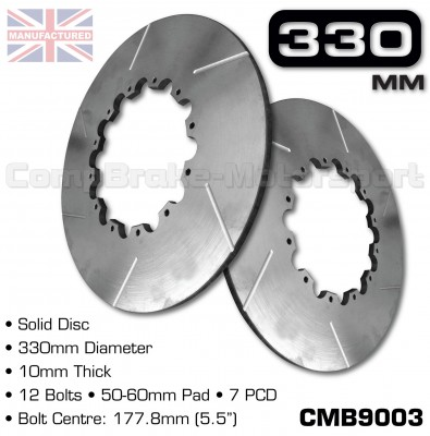 CMB9003-BRAKE-DISCS-[SOLID]-[330MM-X-10MM-12-BOLT-50-60MM-PAD-7PCD]