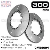 CMB9004-BRAKE-DISCS-[SOLID]-[300MM-X-10MM-12-BOLT-50-60MM-PAD-7PCD]