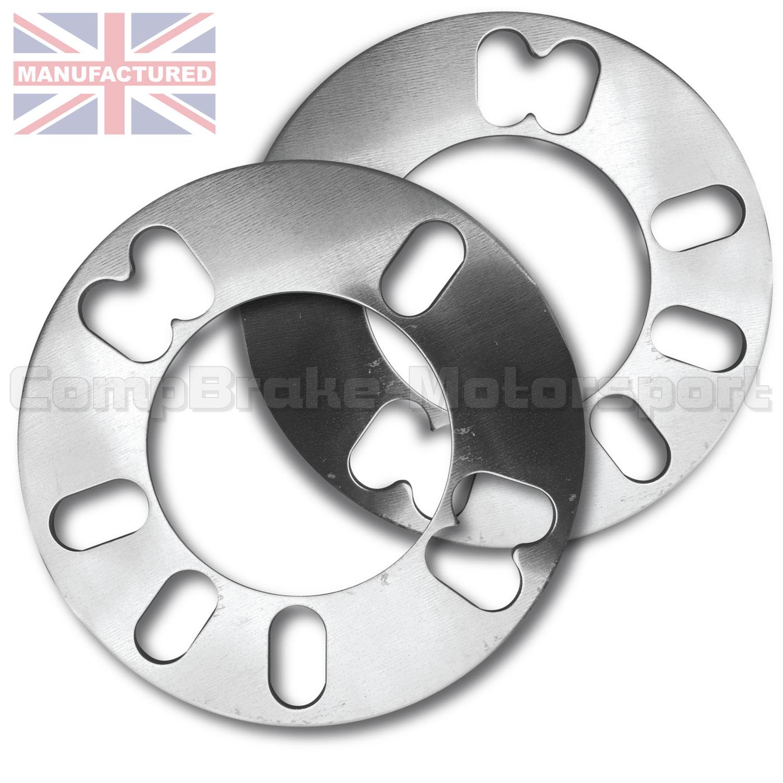 Pair of 3mm Universal Aluminium Wheel Spacers