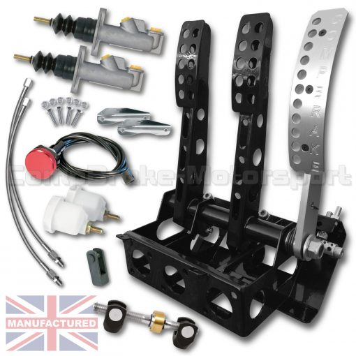 CMB1350-PEDAL-BOX-[FLOOR-MOUNTED]-SPORTLINE-[CABLE]-REAR-FACING-UNIVERSAL-(3-PEDAL)-KIT[B]