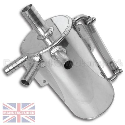 CMB-TANK-S-SUBARU-OIL-CATCH-TANK-1LTR-VERTICAL-ROUND-BULKHEAD-MOUNT-[VERTICAL]--ROUND-90MM[D]-X-170MM[H]-DRAIN-BUNG,-SIGHT-TUBE,-10MM-INLET,-OUTLET-&-BREATHER-[SKEW-02]