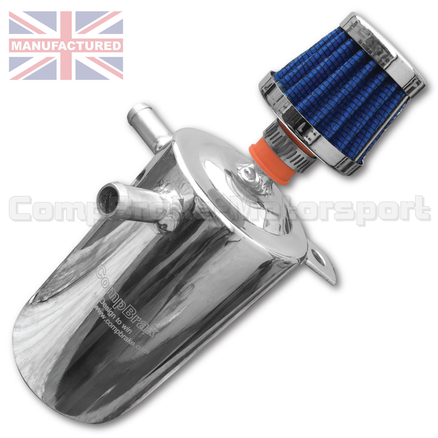 Oil Breather Catch Tank 0 5 Ltr With Filter Vertical