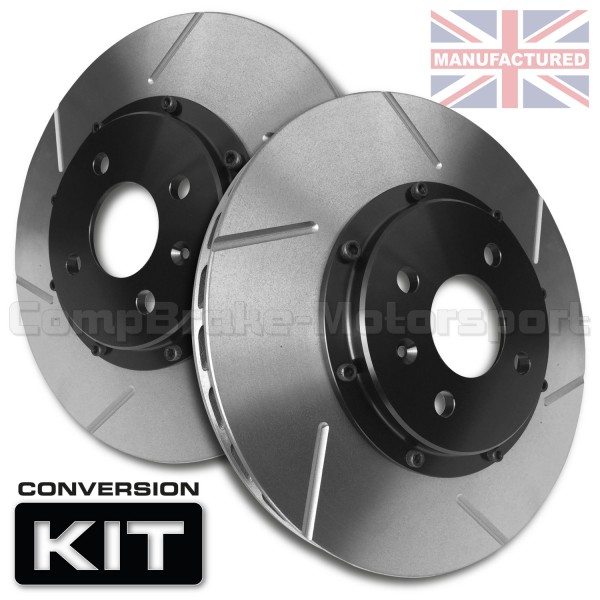 Renault Clio 3 197 RS 312 x 28mm 2-Piece Front Brake Disc Conversion Kit  [Bell/Rotor Combo] Pair