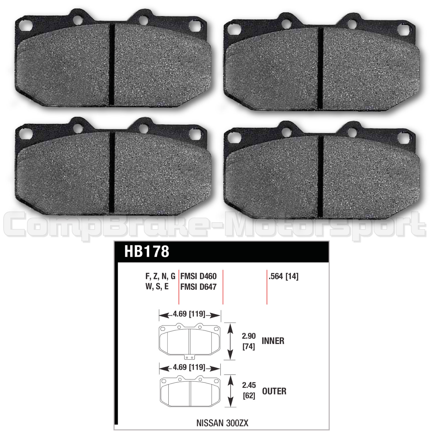 300zx Z31 Fuel Filter Location Hawk Brake Pads Hb178 F564 Hps Nissan Subaru 4 Pot Front Set