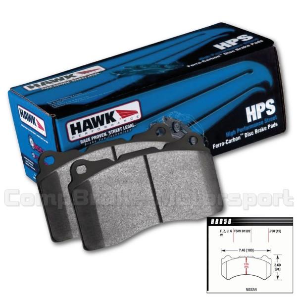 Hawk Performance Ceramic Brake Pads Front 2009-2014 R35 GT-R GTR VG38DETT VG38