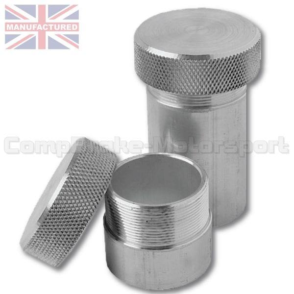 Small Aluminium Fuel Filler Neck [60mm x 40mm Dia] With Screw Cap