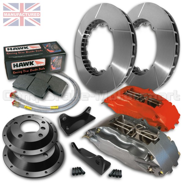 Peugeot 205 306 18 Front Brake Kit 4 Pot Calipers Pro