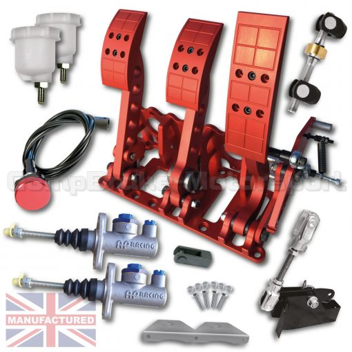 CMB0666-CAB-PRL-R-AP-PEDAL-BOX-[FLOOR-MOUNTED]-PREMIER-PRO-LIGHT-[CABLE]-UNIVERSAL-AP-CYLINDERS-(3-PEDAL)-RED-KIT[A]