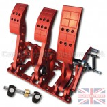 CMB0666-CAB-PRL-R-PEDAL-BOX-[FLOOR-MOUNTED]-PREMIER-PRO-LIGHT-[CABLE]-UNIVERSAL-(3-PEDAL)-RED-BOX+BAR