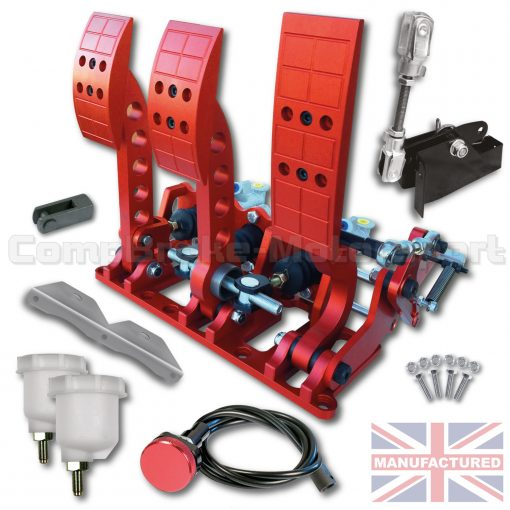 CMB0666-CAB-PRL-R-PEDAL-BOX-[FLOOR-MOUNTED]-PREMIER-PRO-LIGHT-UNIVERSAL-(CABLE-3-PEDAL)-RED-KIT[A]