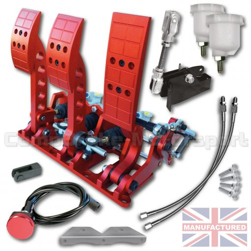 CMB0666-CAB-PRL-R-PEDAL-BOX-[FLOOR-MOUNTED]-PREMIER-PRO-LIGHT-UNIVERSAL-(CABLE-3-PEDAL)-RED-KIT[B]