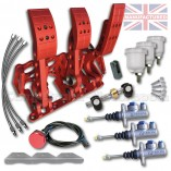 CMB0666-HYD-PRL-R-AP-PEDAL-BOX-[FLOOR-MOUNTED]-PREMIER-PRO-LIGHT-[HYDRAULIC]-UNIVERSAL-AP-CYLINDERS-(3-PEDAL)-RED-KIT[B]