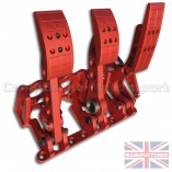 CMB0666-HYD-PRL-R-PEDAL-BOX-[FLOOR-MOUNTED]-PREMIER-PRO-LIGHT-[HYDRAULIC]-UNIVERSAL-(3-PEDAL)-RED-BOX