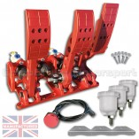 CMB0666-HYD-PRL-R-PEDAL-BOX-[FLOOR-MOUNTED]-PREMIER-PRO-LIGHT-UNIVERSAL-(HYDRAULIC-3-PEDAL)-RED-KIT[A]