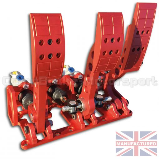 CMB0666-HYD-PRL-R-PEDAL-BOX-[FLOOR-MOUNTED]-PREMIER-PRO-LIGHT-UNIVERSAL-(HYDRAULIC-3-PEDAL)-RED-STD