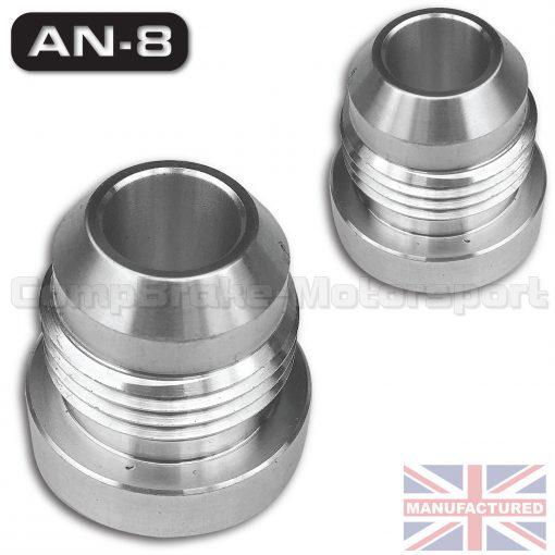 Weld on jic an male aluminium tank fitting pair