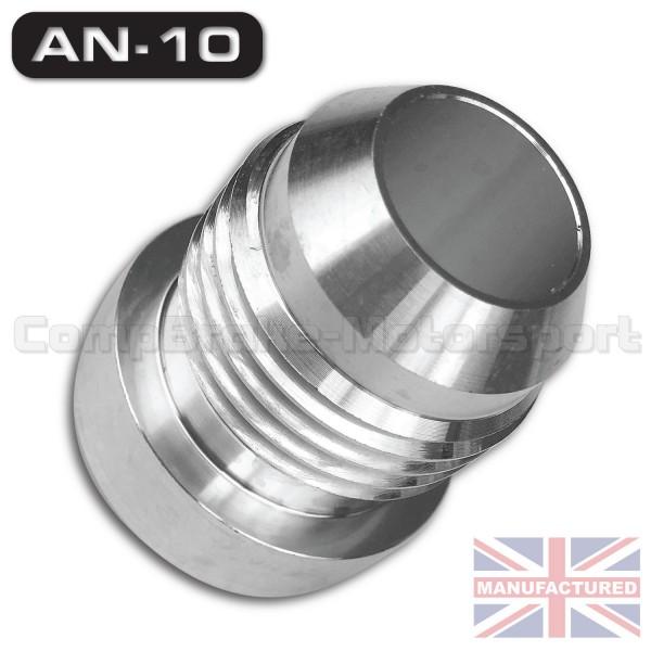 Weld on jic an male aluminium tank fitting single