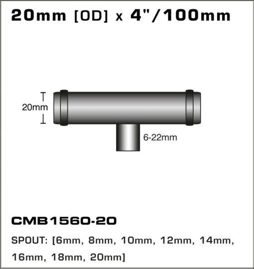 CMB1560-20-T-PIECE-20mm-[OD]-x-4INCH-[100mm]