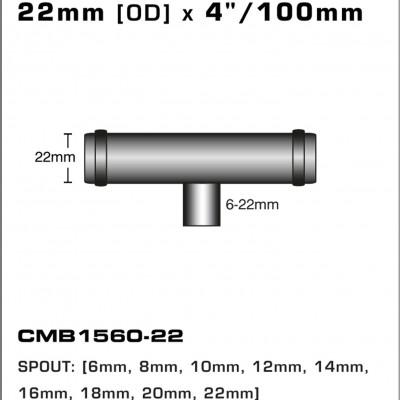 CMB1560-22-T-PIECE-22mm-[OD]-x-4INCH-[100mm]