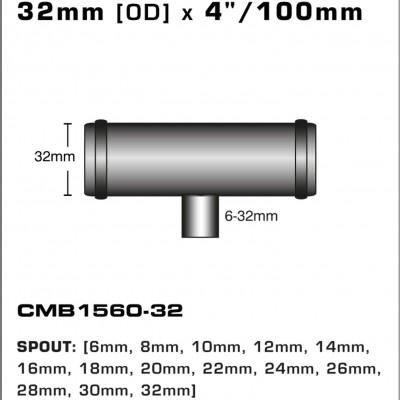 CMB1560-32-T-PIECE-32mm-[OD]-x-4INCH-[100mm]