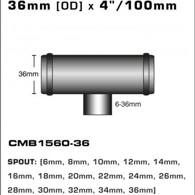 CMB1560-36-T-PIECE-36mm-[OD]-x-4INCH-[100mm]
