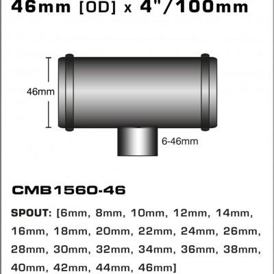 CMB1560-46-T-PIECE-46mm-[OD]-x-4INCH-[100mm]