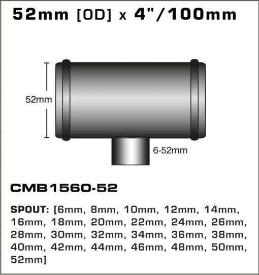 CMB1560-52-T-PIECE-52mm-[OD]-x-4INCH-[100mm]