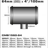 CMB1560-64-T-PIECE-64mm-[OD]-x-4INCH-[100mm]