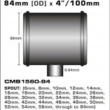 CMB1560-84-T-PIECE-84mm-[OD]-x-4INCH-[100mm]