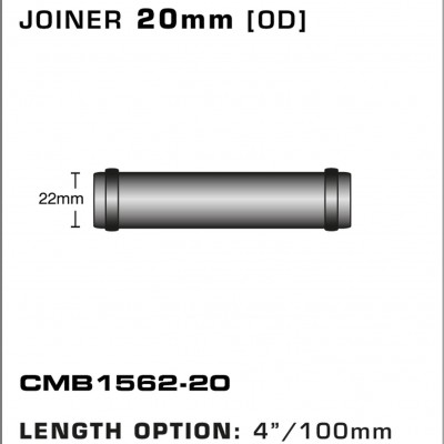 CMB1562-20-T-PIECE-JOINER-20mm-[OD]-x-4INCH-[100mm]